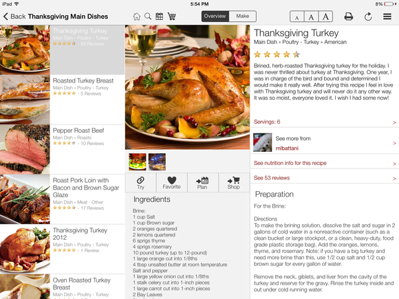 5 ipad apps for making the perfect thanksgiving dinner macworld