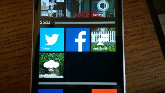 Lumia 830 Denim folders Microsoft