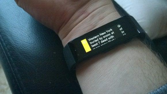 Microsoft Band Cortana tile