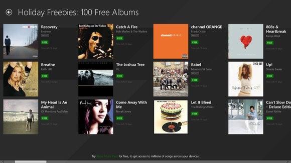xbox music free albums
