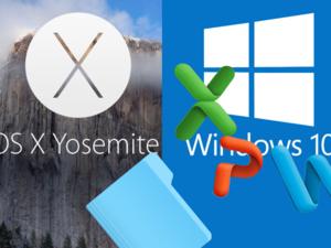 Share osx yosemite files with windows 10