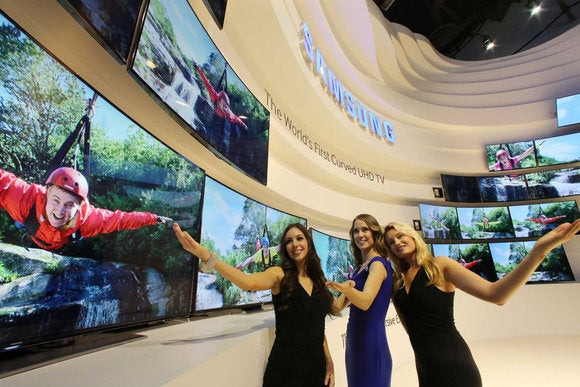 Samsung curved TVs CES
