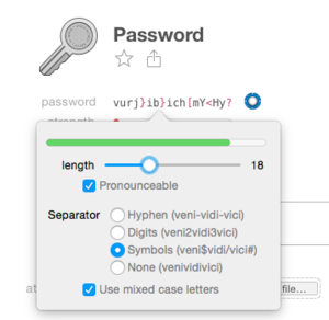1password password recipe