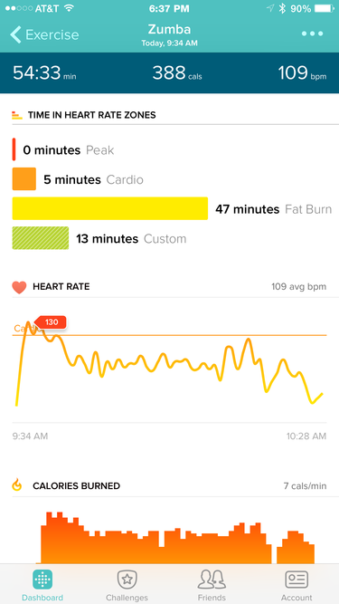 Fitbit Surge iOS app