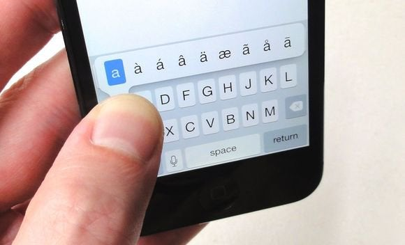 android typing tips accent