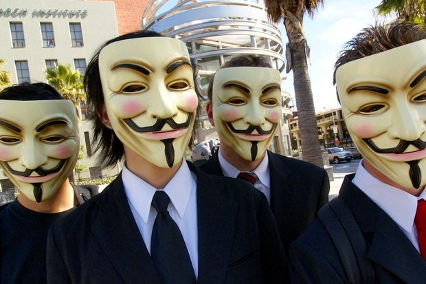 Anonymous hacking war attacks ISIS Paris attacks