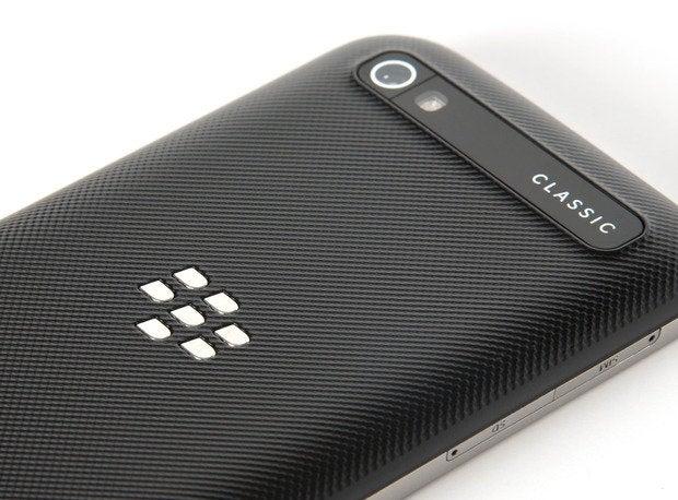 blackberry classic rear logo