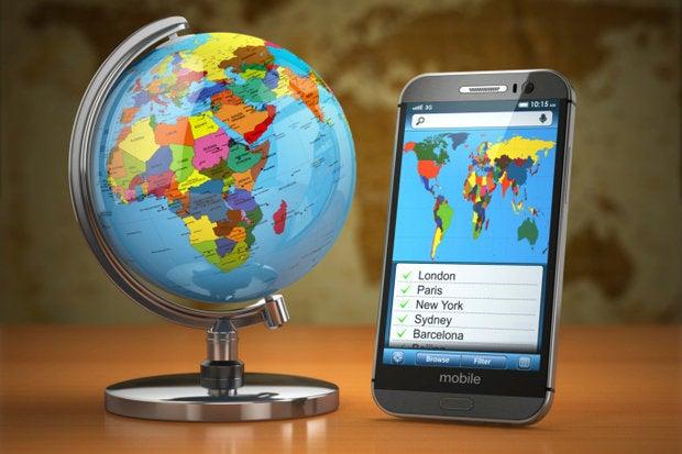 byod around the world globe mobile