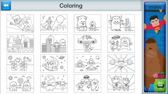 comic book maker coloring