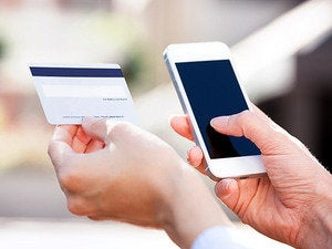 credit card smartphone