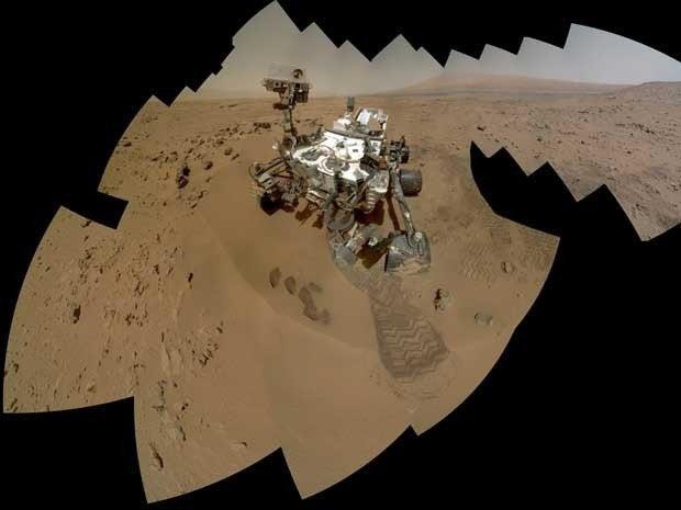 Curiosity self-portrait on Mars