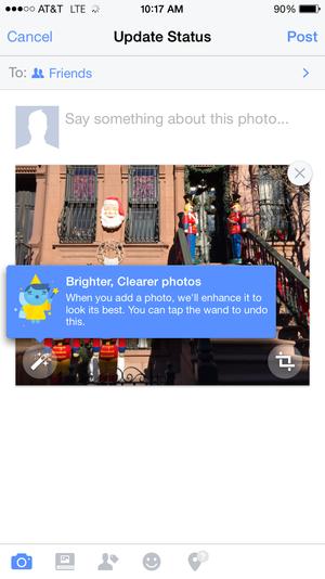 facebook auto enhance