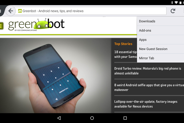 Firefox for Android adds Chromecast support, newly polished