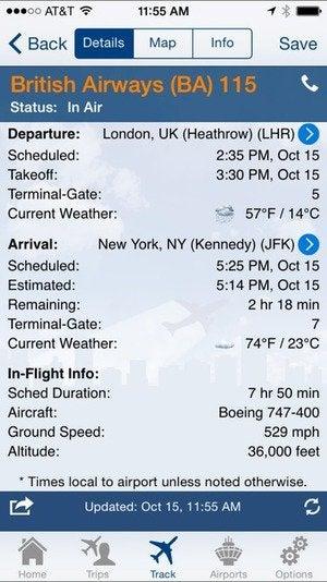 flightview details