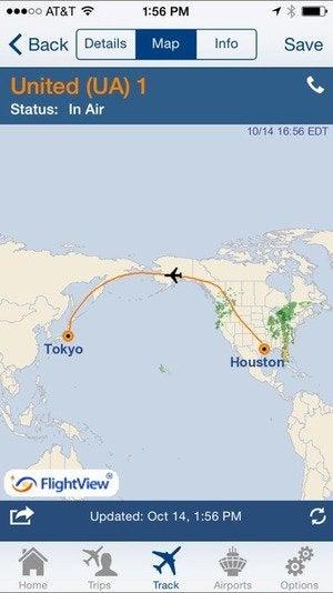 flightview map