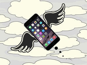 winged flying iphone 6