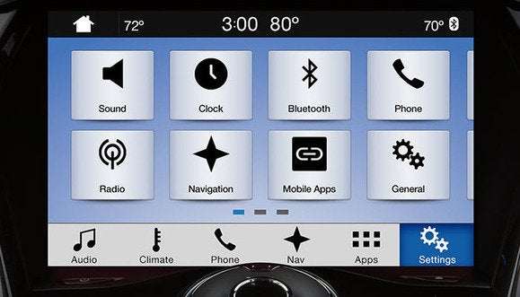 ford sync 3 settings