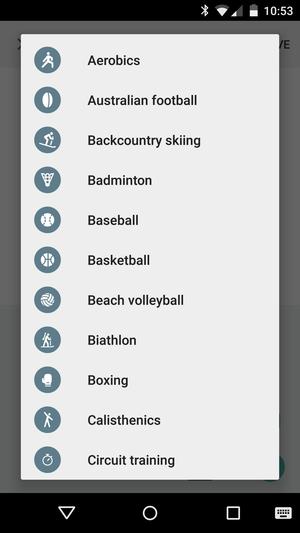 google fit activities