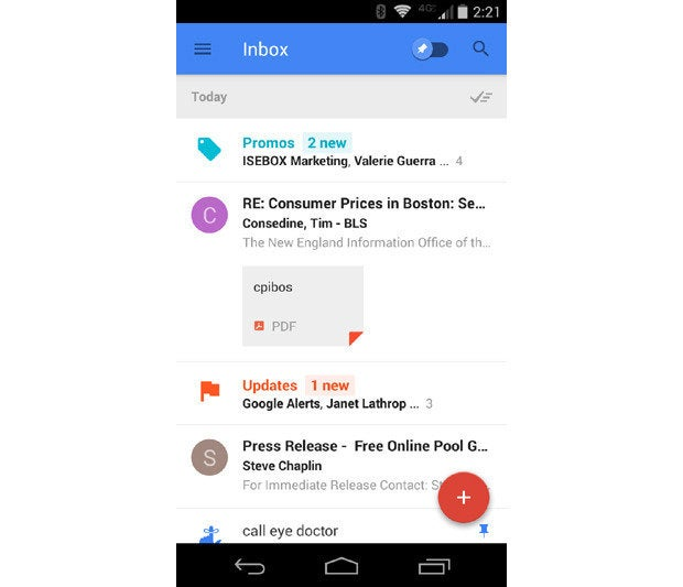 Google Inbox Material Design