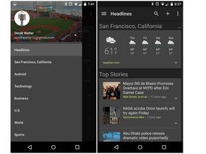 google news app dark theme