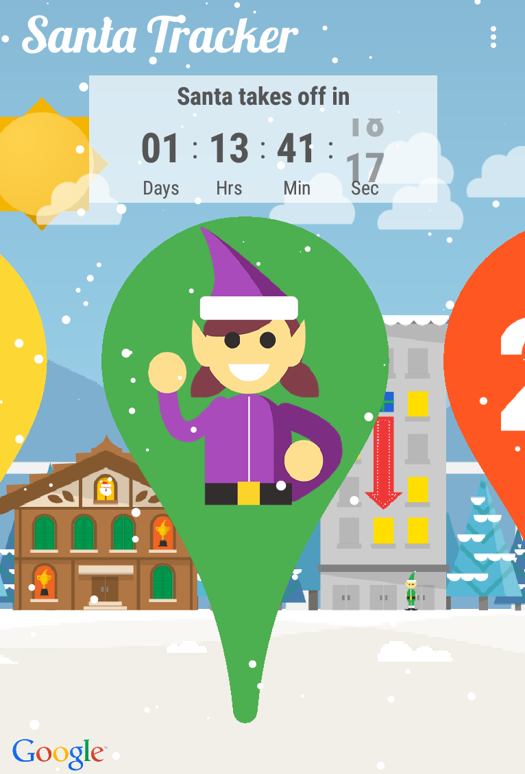 googles santa tracker android app