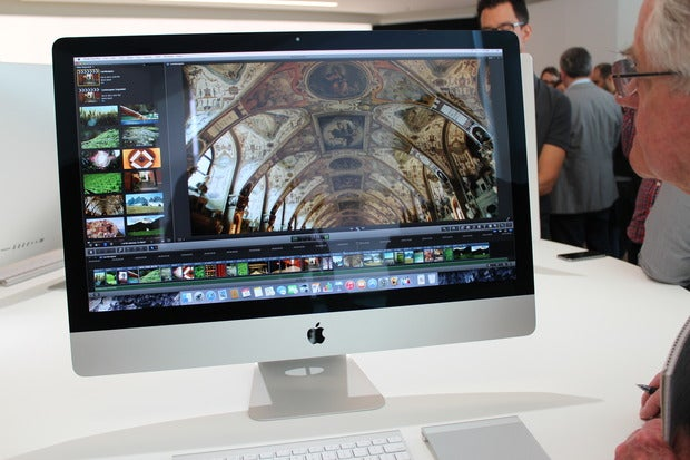 Apple's new 5K Retina iMac running Final Cut Pro.