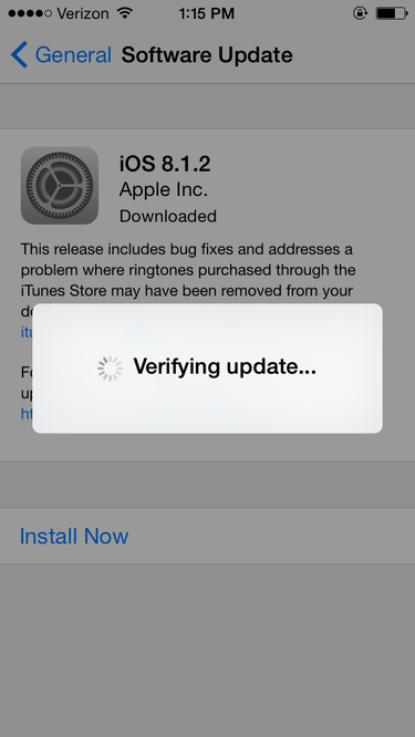 iOS 8.1.2 update, Apple
