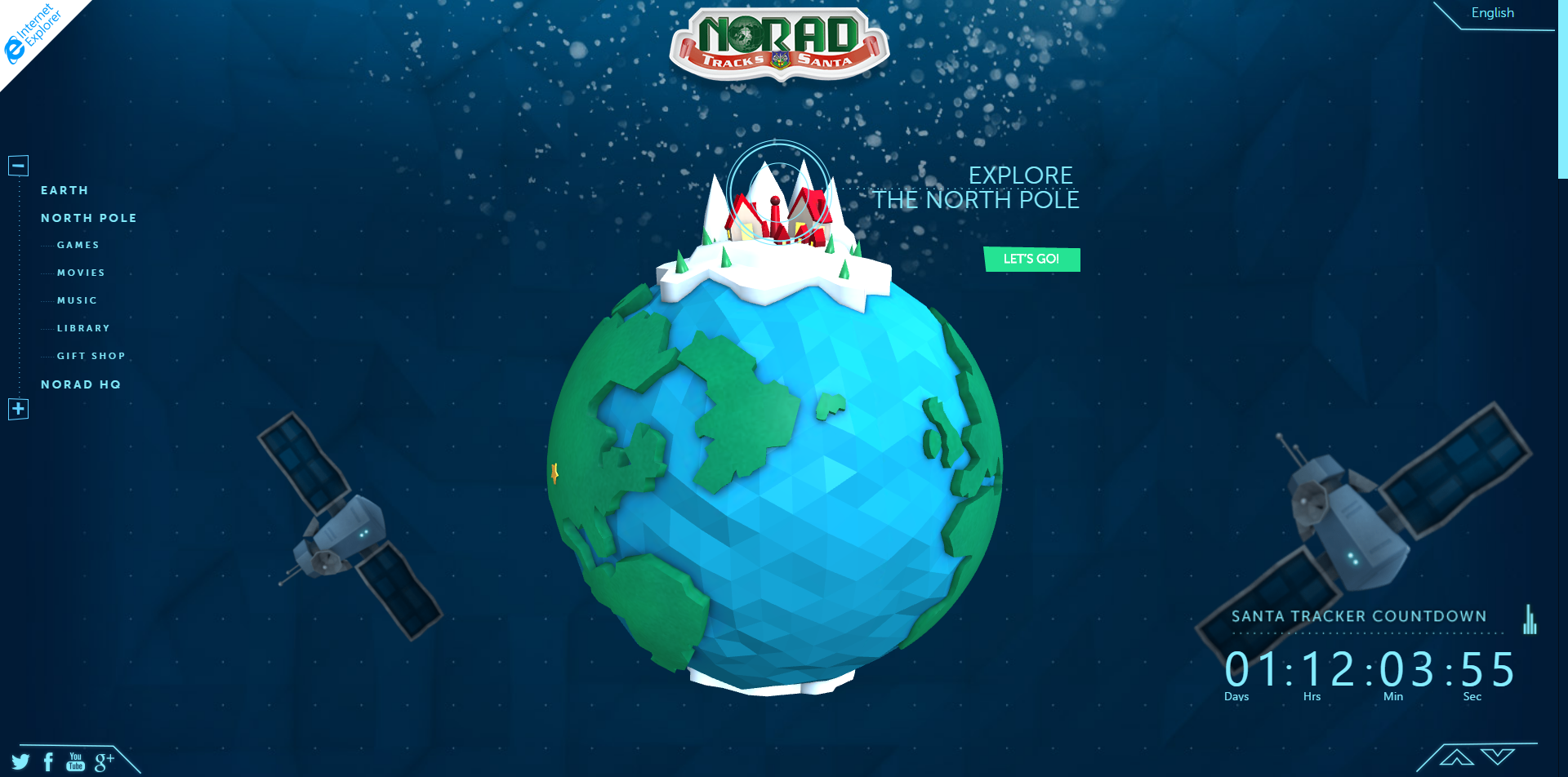 the official norad santa tracker website powered by microsoft