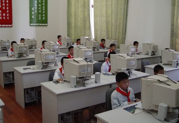 north korea computer kids