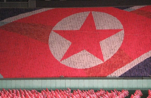 north korea flag games