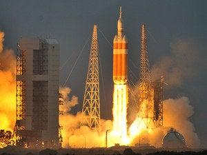 orion launch reuters rocket