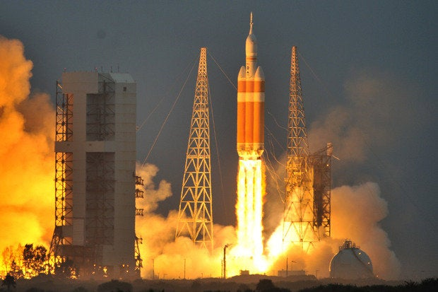 orion launch reuters rocket