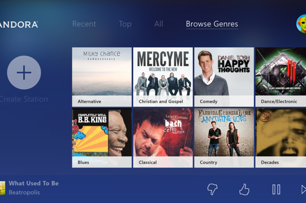 Pandora on Xbox ONe