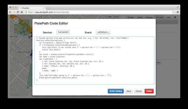 Pixiepath programming interface