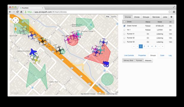 Pixiepath drone deployment map
