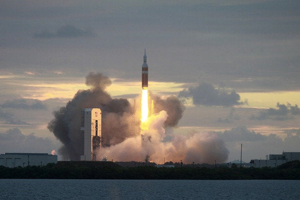Orion lifts off from Cape Canaveral Air