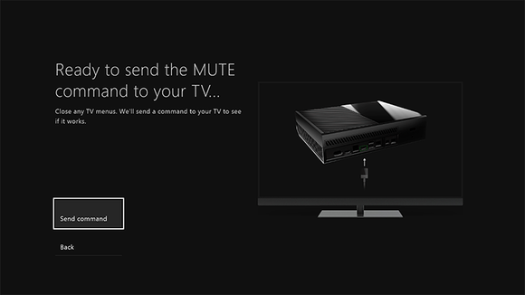 send mute command to xbox