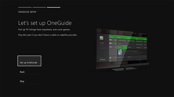 set up oneguide