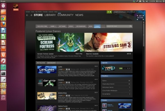 steam for linux games