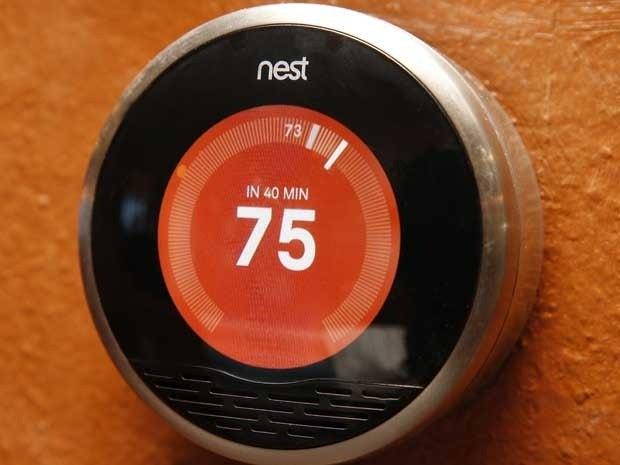 A Nest thermostat