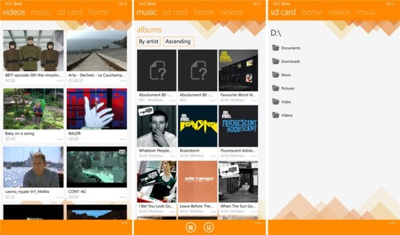 VLC for Windows Phone enters beta, for old-school video