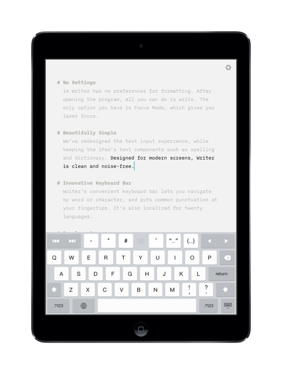 writer for ipad focus