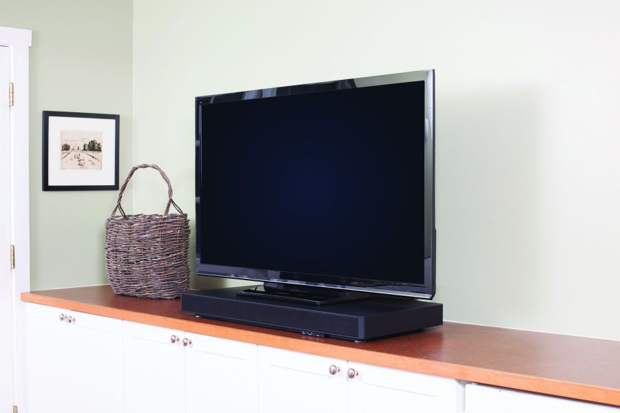 Good A Pedestal Style Sound Bar, Such As This Zevox Audio SoundBase 770, Can Be  Placed Beneath A TV.