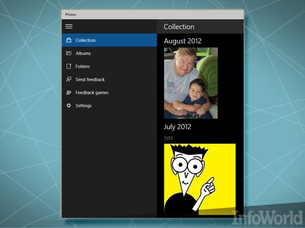January 2015 Windows 10 Photos app