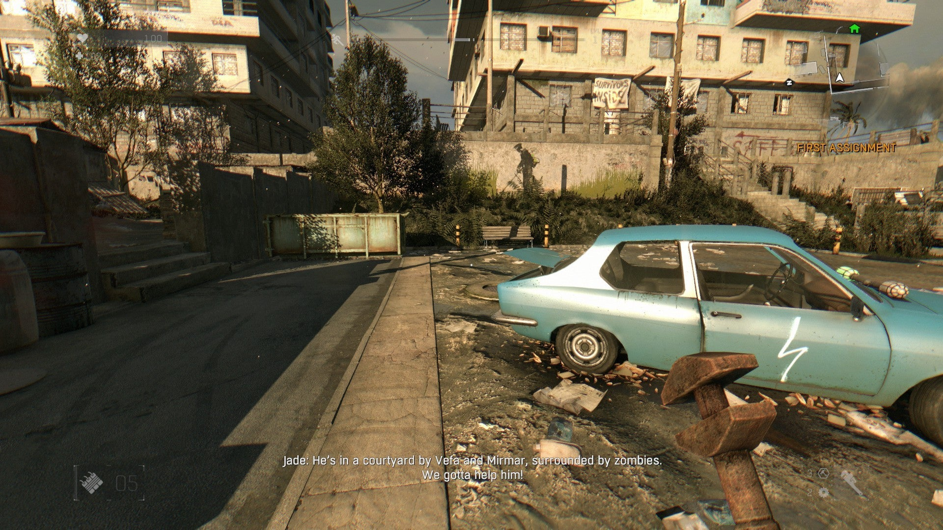 dying light how to get car