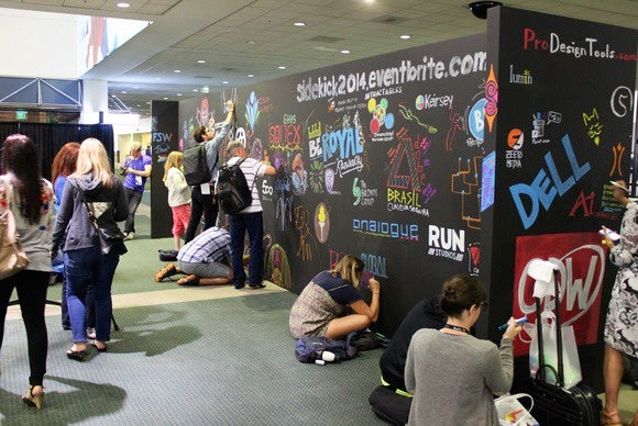 adobe max 2014 attendees at wall