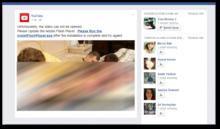 Malicious Facebook post