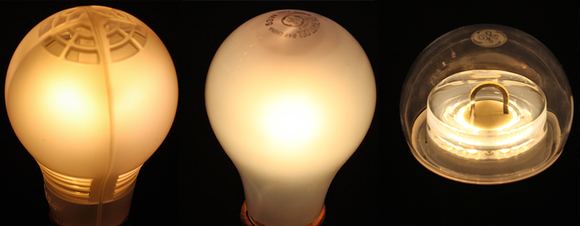 LED light bulbs compared to incandescent