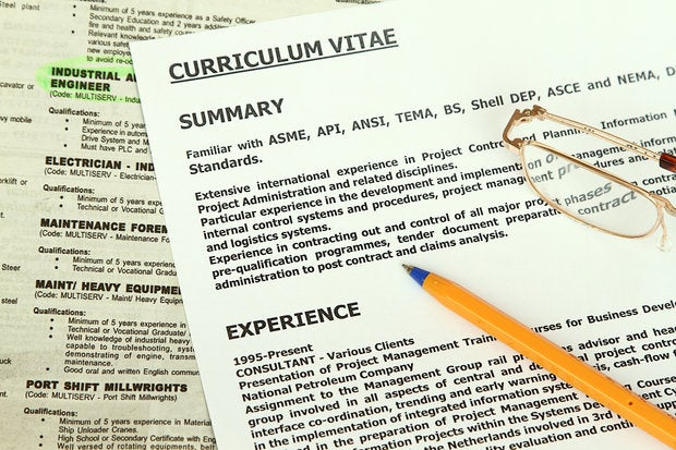 cover letter thinkstock
