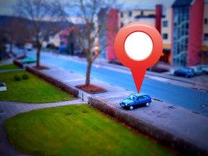 google map location pin GPS geocache
